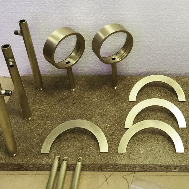 Slowly but surely prototypes are getting ready for Milan Salone del Mobile! I love brass just brushed!