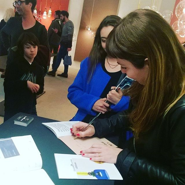 Cristiana sharing her passion and obsession for design processes with the Naba students ended up signing autographs