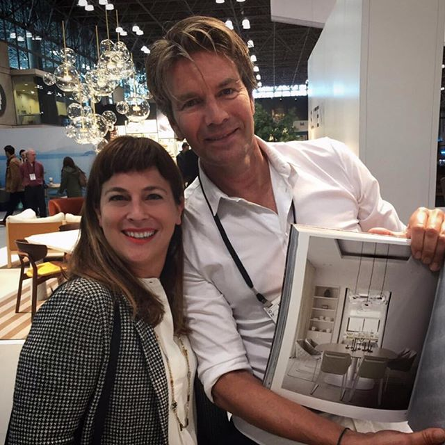 Celebrating with Piet Boon his latest book that includes an interior project with our Bolle chandelier!!  @studio_pietboon