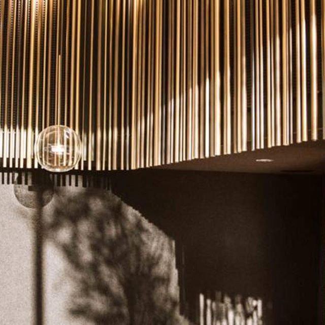 LIGHT AND SHADOWS- Soffio suspension lamp in this great Interior by Swiss Architect Davide Conti