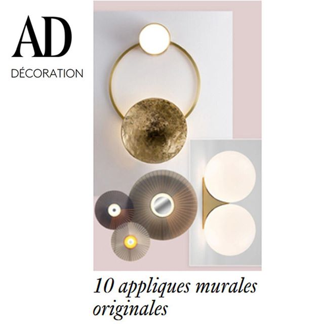Thanks @ad_magazine! 🏻🏻🏻 GIOIELLI sconce in Ad France wall lamp selection with other great projects sconces