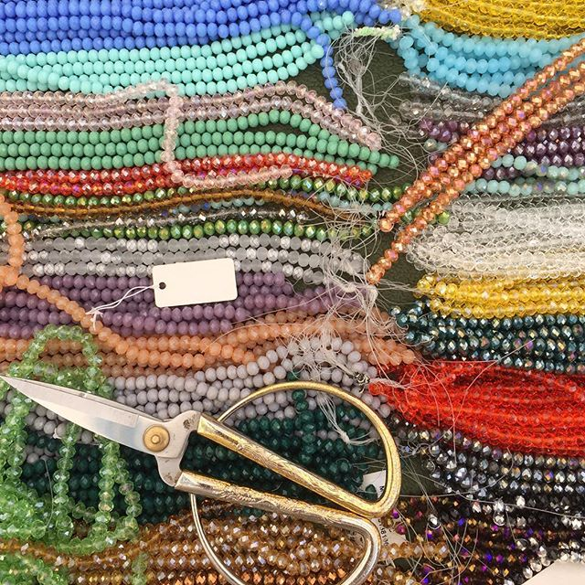 Beads And colors in the sunday town market in Treviso