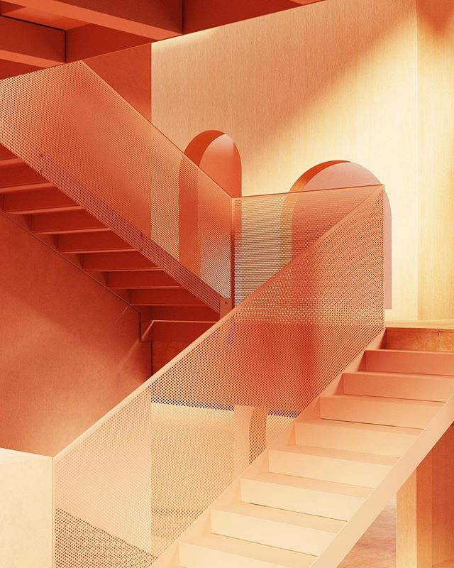 ⠀⠀⠀⠀⠀⠀⠀⠀⠀ .⠀⠀⠀⠀⠀⠀⠀⠀⠀ We all need distractions, some images take me on a journey far away. If you want to join me, I'll take you with me! ⠀⠀⠀⠀⠀⠀⠀⠀⠀ .⠀⠀⠀⠀⠀⠀⠀⠀⠀ Today I choose this dreamy staircase dipped in an orange hue gradient which follow the light. Love at first sight!⠀⠀⠀⠀⠀⠀⠀⠀⠀ ⠀⠀⠀⠀⠀⠀⠀⠀⠀ #inspiration⠀⠀⠀⠀⠀⠀⠀⠀⠀ .⠀⠀⠀⠀⠀⠀⠀⠀⠀ .⠀⠀⠀⠀⠀⠀⠀⠀⠀ @clippingsdesign⠀⠀⠀⠀⠀⠀⠀⠀⠀ .⠀⠀⠀⠀⠀⠀⠀⠀⠀ 3D and render artist Robin Barnes aka @secretswimclub
