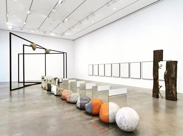 . We all need distractions, some images take me on a journey far away. If you want to join me, I'll take you with me! . . via @heidirforbes . Paraparticular (installation view) by Alicja Kwade -